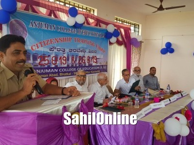 Bhatkal: Two day Citizenship Training Camp begins at Anjuman College of Education