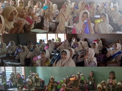بھٹکل انجمن آزاد اسکول میں بچوں کے لئے اب پانی پینے کی بجے گی گھنٹی