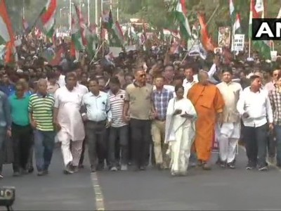 WB: Mamata takes out massive protest march against CAA