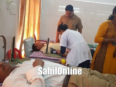 Blood donation camp held by Welfare Hospital, Bhatkal