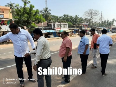 Bhatkal MLA Sunil Naik along with IRB officials to resolve grievances faced by public due to NH-66 widening works