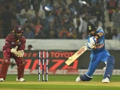 وراٹ کوہلی اور کے ایل راہل کی طوفانی بلے بازی ،پہلے ٹی ٹوئنٹی مقابلے میں ہندوستان نے ویسٹ انڈیز کو 6وکٹ سے دی شکست