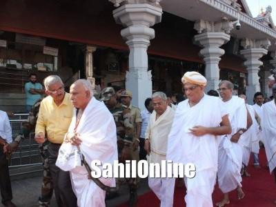 Karnataka Chief minister B S Yediyurappa visited Dharmasthala