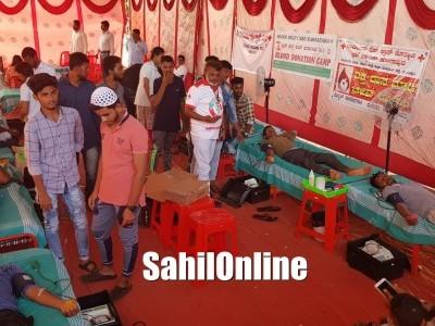 Mega Blood donation camp organised by Al-Badar Association, Bhatkal
