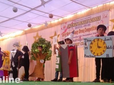 Kids light up centenary celebrations in fancy dress at a program in Anjuman college for women in Bhatkal