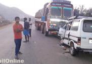 کاروار میں لاری کی ٹکر میں ماروتی کار پر سوار عمر رسیدہ خاتون جاں بحق