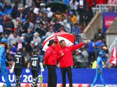 عالمی کپ 2019ء میں ہندوستان اور نیوزی لینڈ کے درمیان سیمی فائنل میچ بارش سے متاثر