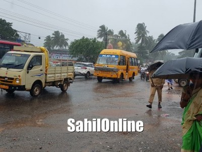 Normal life hit after heavy rain lashes in Uttara Kannada