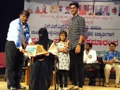Toppers of PUC and SSLC students awarded and felicitated in Karwar by Karnataka SC/ST Employees Federation
