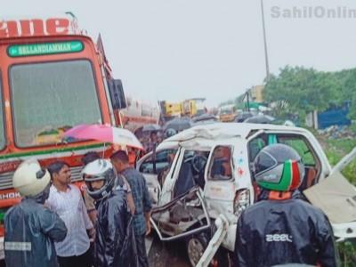 مینگلور کے قریب بنٹوال میں بھیانک سڑک حادثہ؛ بھٹکل کے ایک ہی خاندان کے چار افراد ہلاک، سات زخمی؛ مرنے والوں میں دلہا بھی شامل