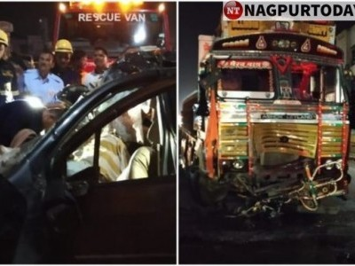 9 students killed as car crashes into truck on highway near Pune