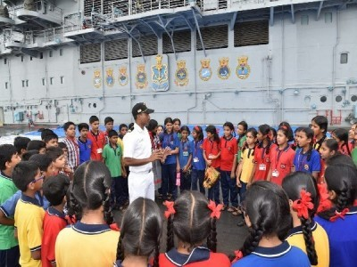 20 years of Kargil Vijay: INS Vikramaditya, Suvarna open for public at Karwar