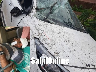 2 Bhatkal residents injured as car hits divider on Kumta NH-66