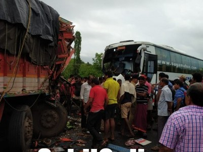 10 injured in Bus-Truck collision on Ankola NH-66