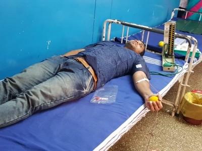 ضلع شمالی کینرا میں منایا گیا خون عطیہ کا عالمی دن