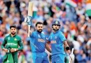 ورلڈ کپ میں ہندوستان کی پاکستان کے خلاف لگا تار ساتویں جیت ، ڈک ورتھ لوئس کے تحت 89 رنوں سے شکست