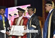 Marginal farmer's son emerges 'Golden Boy'; 76 PHDs, 43 gold medals, nine cash certificates bagged by students at UAS convocation
