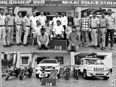 مینگلور: مُلکی پولیس نے کیا بین الریاستی چوروں کو گرفتار۔40لاکھ روپے مالیت کا مسروقہ مال ہوا بر آمد