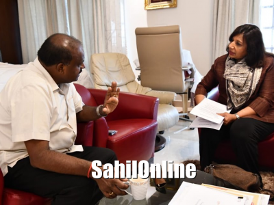 Karnataka: Kiran Mazumdar Shaw holds discussions with CM HD Kumaraswamy over infrastructure development