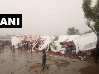 رام کتھا کے دوران طوفان سے گرا پنڈال، 13 افراد ہلاک، 45 زخمی