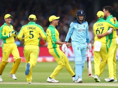 CWC'19: Aussies beat hosts by 64 runs to enter semis, England trapped in two must-win matches