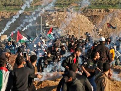غزہ میں مظاہرین پر اسرائیلی فوج کی فائرنگ، 2 فلسطینی شہید، 66 زخمی