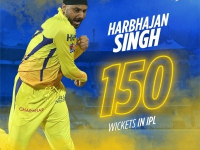 Harbhajan Singh becomes third Indian to take 150 IPL wickets