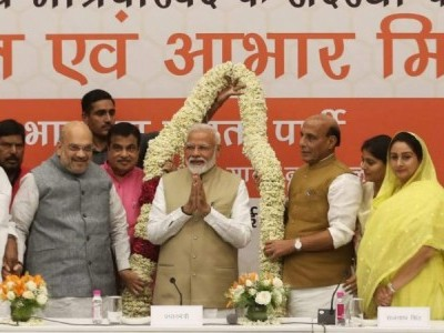 NDA leaders meet ahead of Lok Sabha results