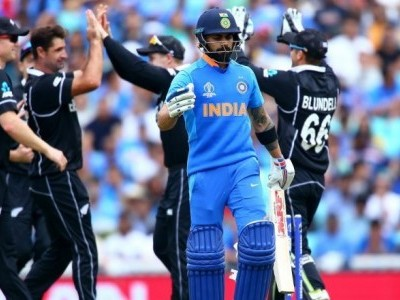 Indian batsmen flop in World Cup warm-up against New Zealand