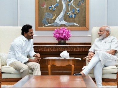 Jagan Reddy meets PM Modi, presses for Andhra special status