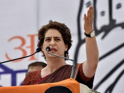 Priyanka Gandhi accuses govt of tampering with report on farmer suicides