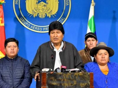 بولیویا: صدر مورالیس مستعفی،نئے انتخابات ہونگے