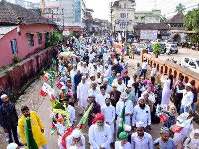 Processions mark Eid-Milad in different parts of Dakshina Kannada district