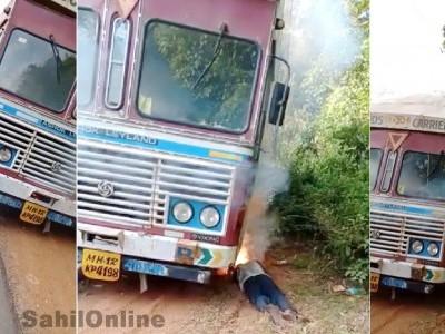 انکولہ میں اندوہناک حادثہ؛ ہائی وے پردوڑتی لاری کو الیکٹرک وائر چھوگئی، ڈرائیور ہلاک