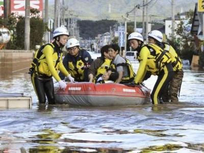 جاپان: سمندری طوفان سے ہلاکتوں کی تعداد 37ہو گئی' 140 سے زائد زخمی