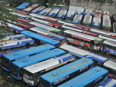 TSRTC stir enters 10th day, bandh observed in Khammam
