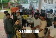 بھٹکل: جے این یو کے لاپتہ متعلم نجیب احمد کو ڈھونڈ نکالنےاور اُس کے ساتھ انصاف کرنے کا مطالبہ لے کر ایس آئی اؤ آف انڈیا کا ملک گیر احتجاج : بھٹکل اسسٹنٹ کمشنر کو بھی دیا گیا میمورنڈم