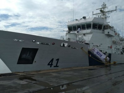 Coast Guard ship Varaha arrives in Mangaluru