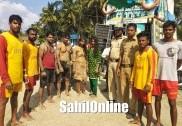 مرڈیشور میں چار سیاحوں کی سمندر میں غرق ہونے کے دوران لائف گارڈس نے بچائی جان
