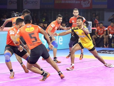 U Mumba trounce Telugu Titans, jump to top-five