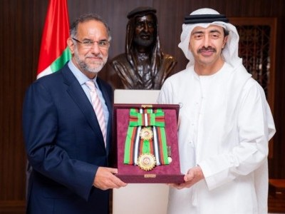 UAE honours outgoing Suri with Order of Zayed II award