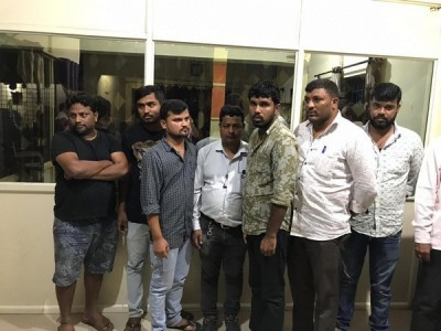 Karnataka: 13 gamblers, club owner arrested