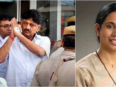 Karnataka Congress MLA Laxmi Hebbalkar appears before ED in Shivakumar case