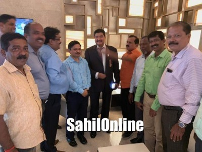 Kumta delegation led by MLA Dinakar Shetty meets NRI Businessman B R Shetty in Bengaluru to discuss about Multispecialty hospital in Kumta