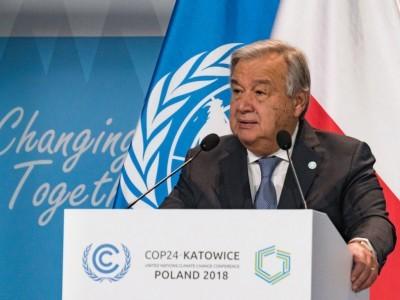 ماحولیاتی تبدیلی، عالمی امن کے لئے نیا خطرہ: اینٹینو گوٹیرس