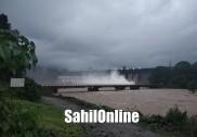 لنگن مکّی اور گیروسوپّا ڈیم سے چھوڑا گیا پانی۔ شراوتی ندی میں سیلاب کا خطرہ۔ کناروں پر بسنے والوں میں خوف وہراس