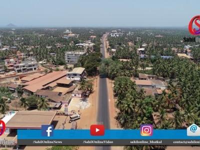 Aerial view Bhatkal Lockdown