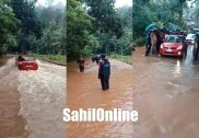 Heavy rains leave Kumta-Sirsi state highway waterlogged, commuters face tough time
