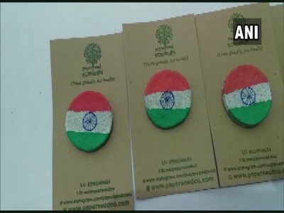 Independence Day 2020: Man creates eco-friendly tricolour badges in Mangaluru