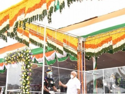 Karnataka CM hoists flag, extends greeting on 74th Independence Day